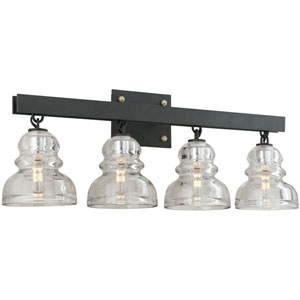 Sullivan Dark Bronze Four-Light Vanity
