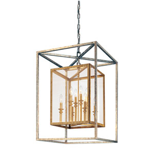 Warwick Gold Silver Leaf Eight-Light Lantern Pendant