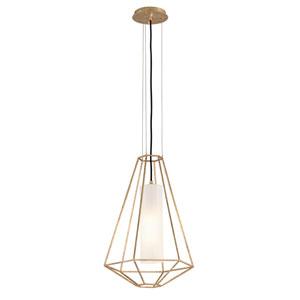 Wooster Gold Leaf 16-Inch One-Light Lantern Pendant