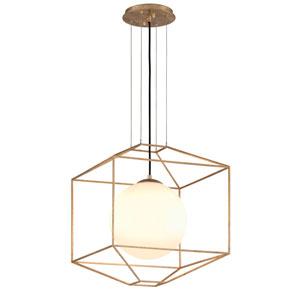 Wooster Gold Leaf 18-Inch One-Light Globe Lantern Pendant
