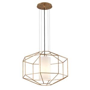 Wooster Gold Leaf One-Light Lantern Pendant