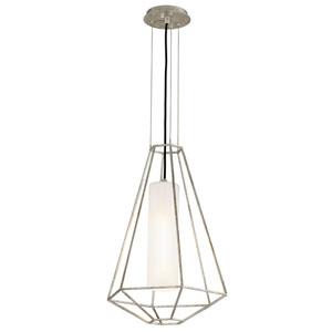 Wooster Silver Leaf 16-Inch One-Light Lantern Pendant