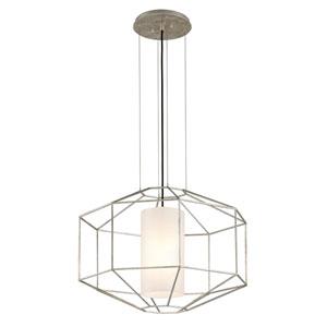 Wooster Silver Leaf One-Light Lantern Pendant