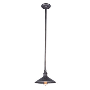 Durham Aged Pewter 11-Inch One-Light Outdoor Pendant