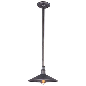 Durham Aged Pewter 14-Inch One-Light Outdoor Pendant