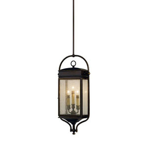 Thames Bronze Three-Light Outdoor Pendant