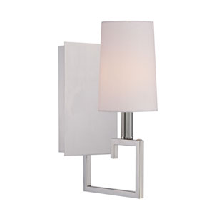 Harper Polished Nickel Five-Inch One-Light Wall Sconce