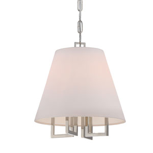 Harper Polished Nickel 13-Inch Four-Light Pendant