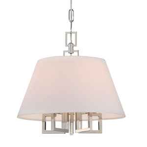 Harper Polished Nickel 16-Inch Five-Light Pendant