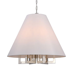 Harper Polished Nickel 28-Inch Six-Light Pendant