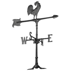 Black 30 Rooster Accent Weathervane