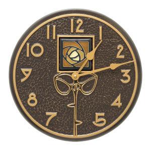 Amber Dard Hunter Rose French Bronze Indoor Outdoor Wall Clock