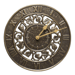 French Bronze Ivy Silhouette Clock