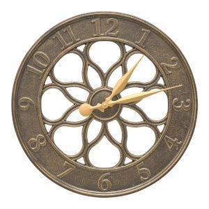 Medallion French Bronze Indoor Outdoor Wall Clock