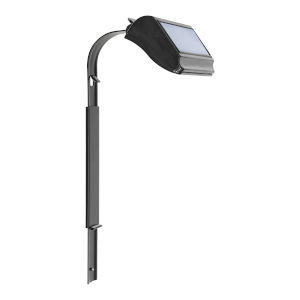 Black Solar Lamp with Extender Lawn Standard and Estate Lawn