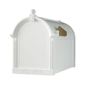 White Capital Mailbox