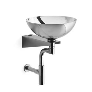 Linea Stainless Steel 15.4-Inch Wall Mounted Bath Sink