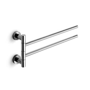 Baketo Polished Chrome Double Towel Rail