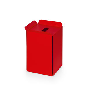 Complements Red Bathroom Waste Basket
