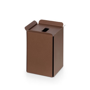Complements Rust Bathroom Waste Basket