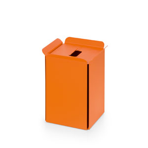 Complements Orange Bathroom Waste Basket