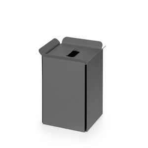 Complements Dark Grey Bathroom Waste Basket