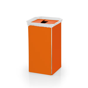 Complements Orange Bathroom Laundry Basket