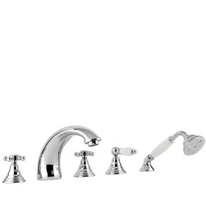 Fonte Belinda Polished Chrome Bath and Shower Faucet
