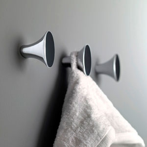 Belle Polished Chrome Bathroom Hook