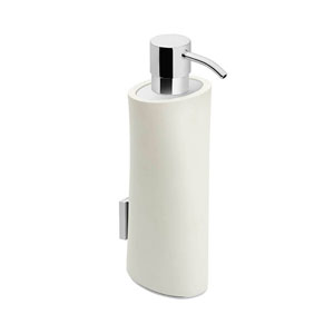 Belle Polished Chrome and Matt White Bathroom Soap Dispenser