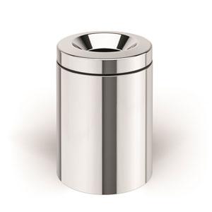 Basket Dust Bin with Bucket in Stainless Steel