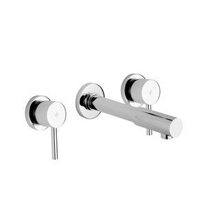 Birillo Concealed Three-hole Basin Mixer with Wall Spout