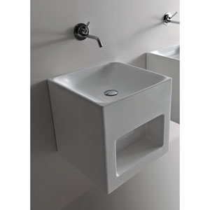 Kerasan White Bathroom Wall Hung Sink