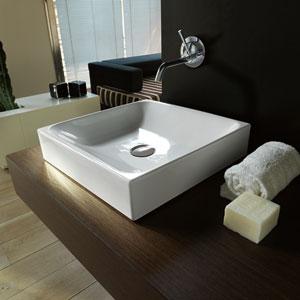 Kerasan White Bathroom Countertop Sink Only
