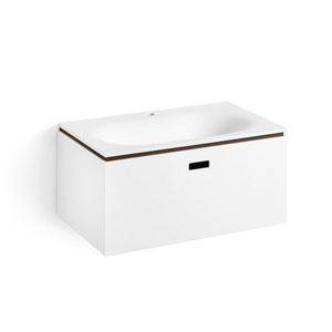 Linea White and Rust Bathroom Vanity