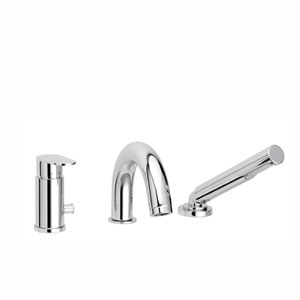 Candy Three-hole Bath Mixer with Diverter