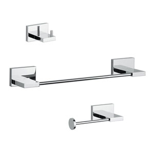 Carmel Bathroom Accessory Set in Polished Chrome