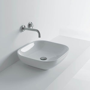 Ciotola Vessel Bathroom Sink in Ceramic White