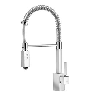 Fonte Domino 176 Polished Chrome Kitchen Sink Faucet with Pull-Down Sprayer