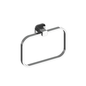 Deva Chrome Towel Ring 8-inch