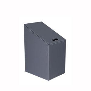 Diagonal Laundry Basket in Dark Grey