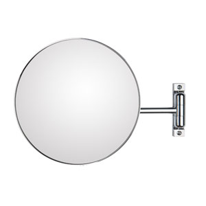 Discolo Polished Chrome Magnifying Makeup Mirror w/ 12.2-Inch Extension