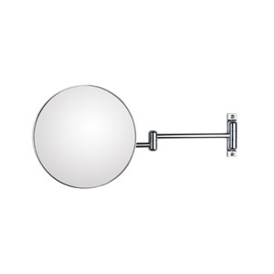 Discolo Polished Chrome Magnifying Makeup Mirror w/ 18.1-Inch Extension