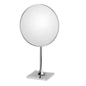 Discolo Polished Chrome Round Free Standing Magnifying Makeup Mirror