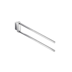 Divo Double Swing Towel Bar in Polished Chrome