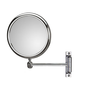 Discolo Polished Chrome 8.3-Inch Extension Makeup Mirror w/ 3X Magnification