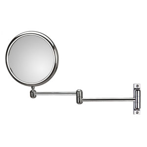 Discolo Polished Chrome 14.6-Inch Extension Makeup Mirror w/ 3X Magnification
