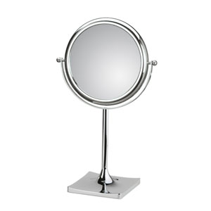 Discolo Polished Chrome 7.1-Inch Free Standing Magnifying Makeup Mirror w/ 3X Magnification