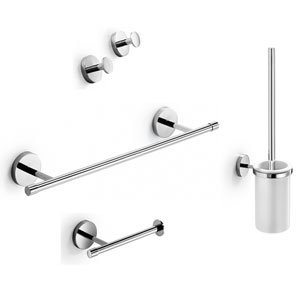 Duemila Accessory Set in Polished Chrome