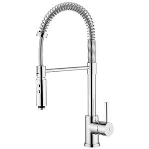Fonte Evo Polished Chrome Kitchen Sink Faucet with Pull-Down Spray